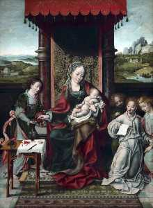 Joos Van Cleve - The Virgin and Child with Angels