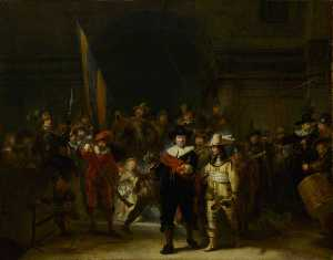 Gerrit Lundens - The Company of Captain Banning Cocq and Lieutenant Willem van Ruytenburch (-The Nightwatch-) (after Rembrandt van Rijn)