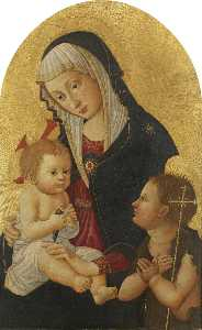 Pseudo Pier Francesco Fiorentino - Virgin and Child with a Goldfinch and the Infant Saint John