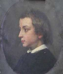 Félix Joseph Barrias - Portrait d-Ernest Barrias à 6 ans (de profil)