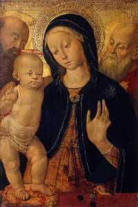 Bernardino Fungai - The Virgin and Child with Two Saints