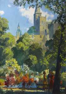 Frederick Donald Blake - Dunfermline Abbey and Pittencrieff Park