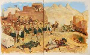 Buy Museum Art Reproductions | Gordons at Kandahar (diptych), 1997 by Eric Auld | WahooArt.com