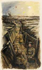 Order Art Reproductions | Gordons in the Trenches by Eric Auld | WahooArt.com