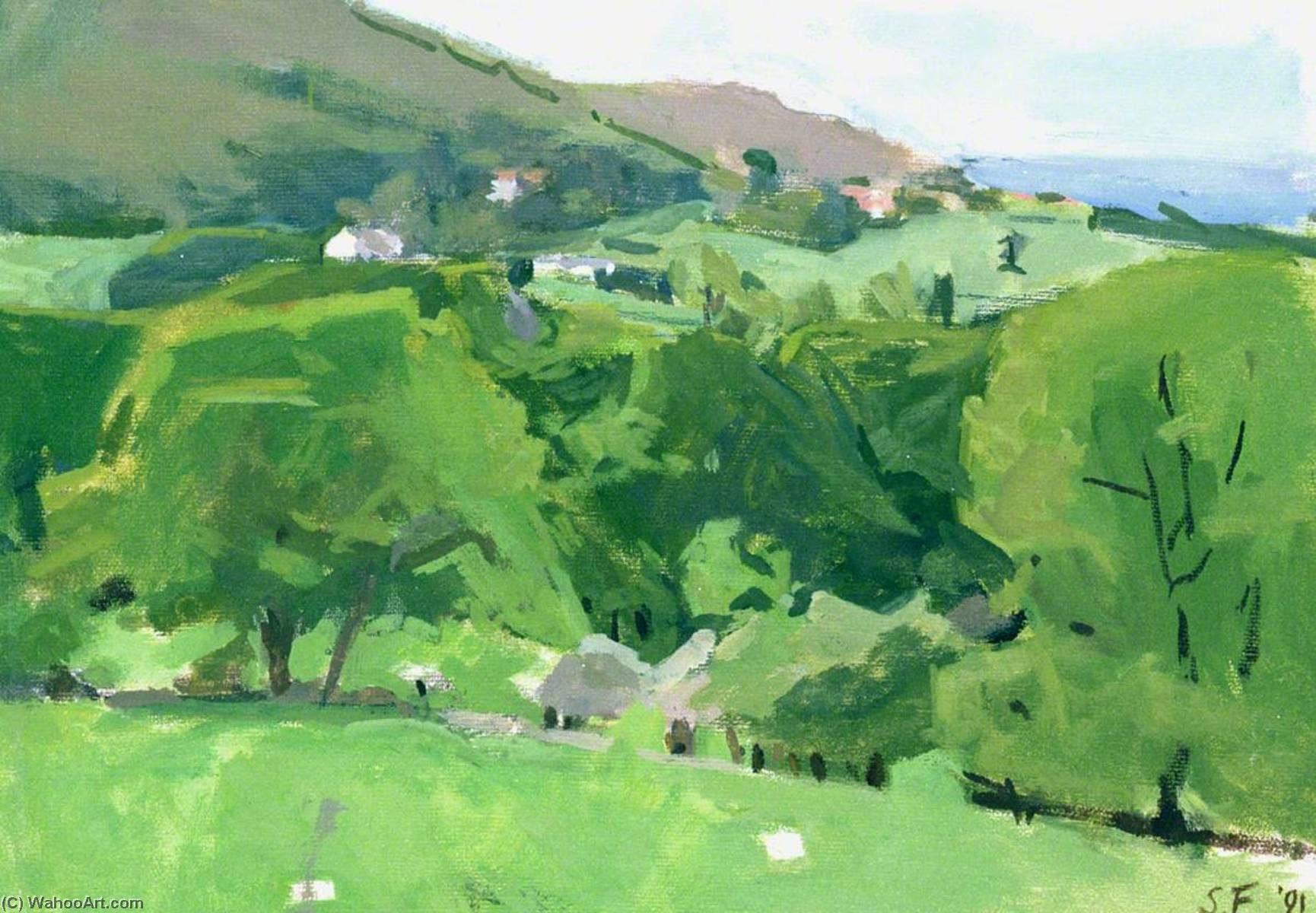 Near Conway, Wales I, Oil by Susannah Fiennes