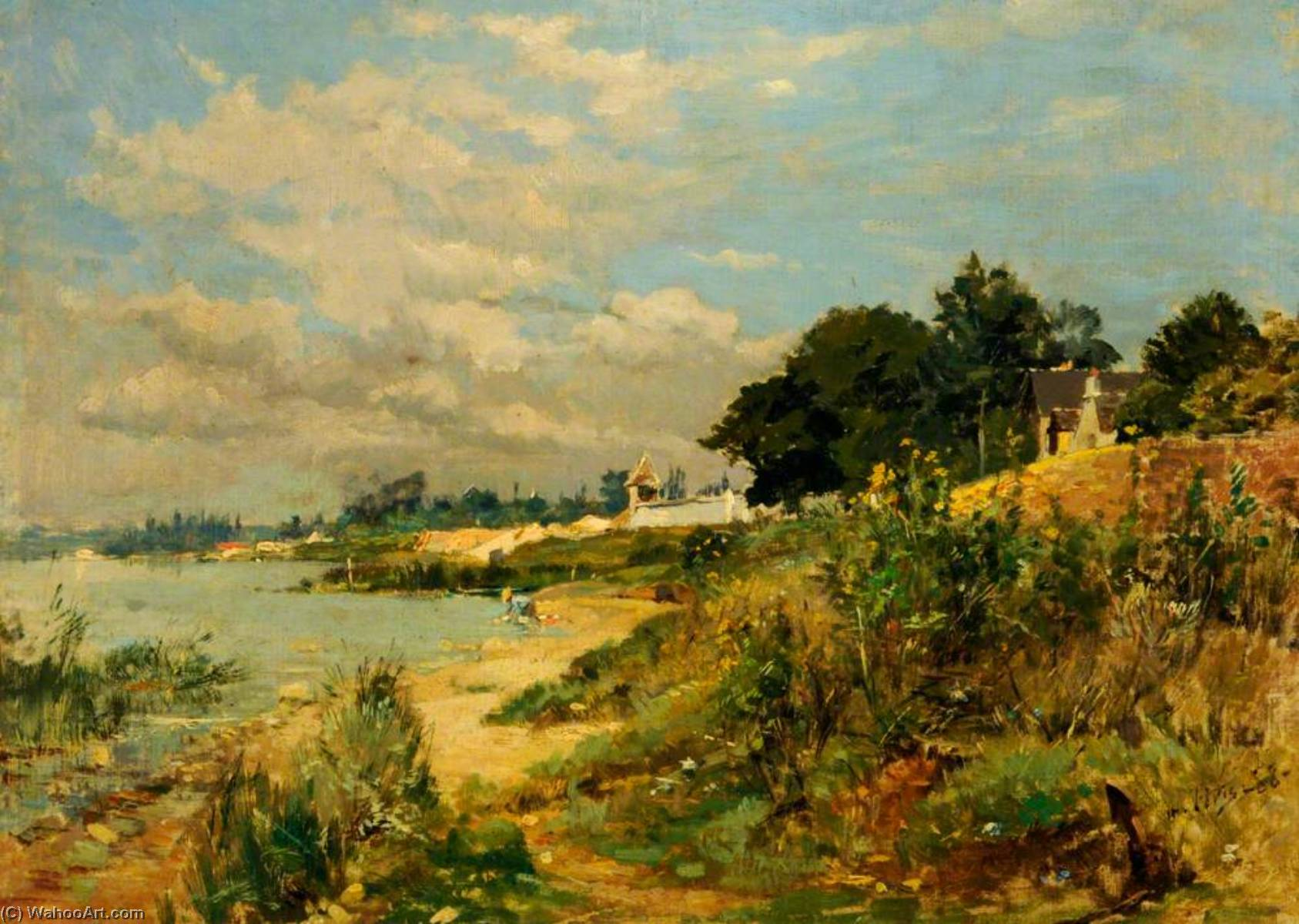 At Boutigny, France, Oil On Canvas by Maurice Levis (1860-1940)