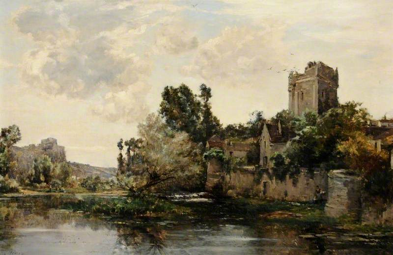 Les vieux ramparts, Oil On Canvas by Maurice Levis (1860-1940)