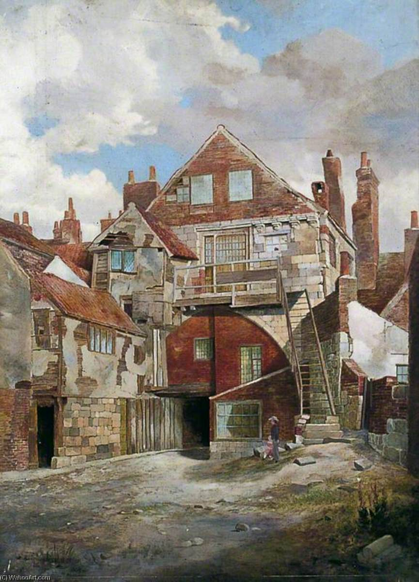 The Gatehouse, Holy Trinity Priory, York, 1898 by Walter Harvey Brook (1863-1943, United Kingdom) | Art Reproduction | WahooArt.com