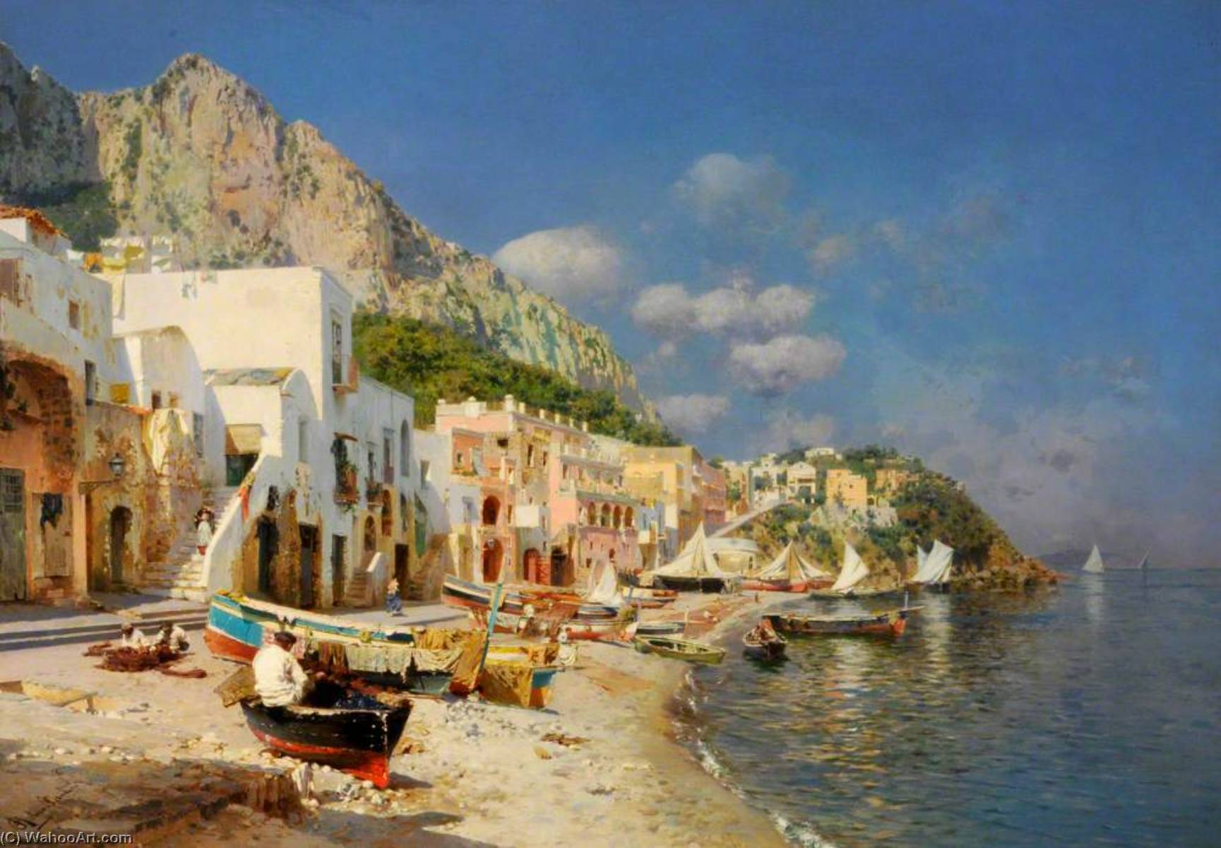 Capri, Italy by Rubens Santoro | Art Reproduction | WahooArt.com