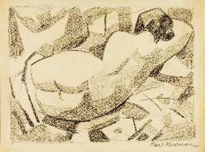 Carl Newman - Reclining Nude Women