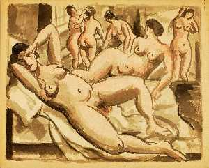 Carl Newman - Group of Six Female Nudes