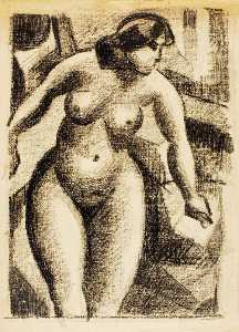 Carl Newman - Standing Female Nude