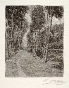 Henry Wolf - A Path to Longpre (French Landscape)