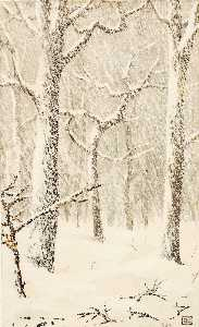 George Elbert Burr - Untitled (Trees in Snow)