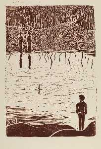 Frank Mcclure - Figures on Pond-s Edge