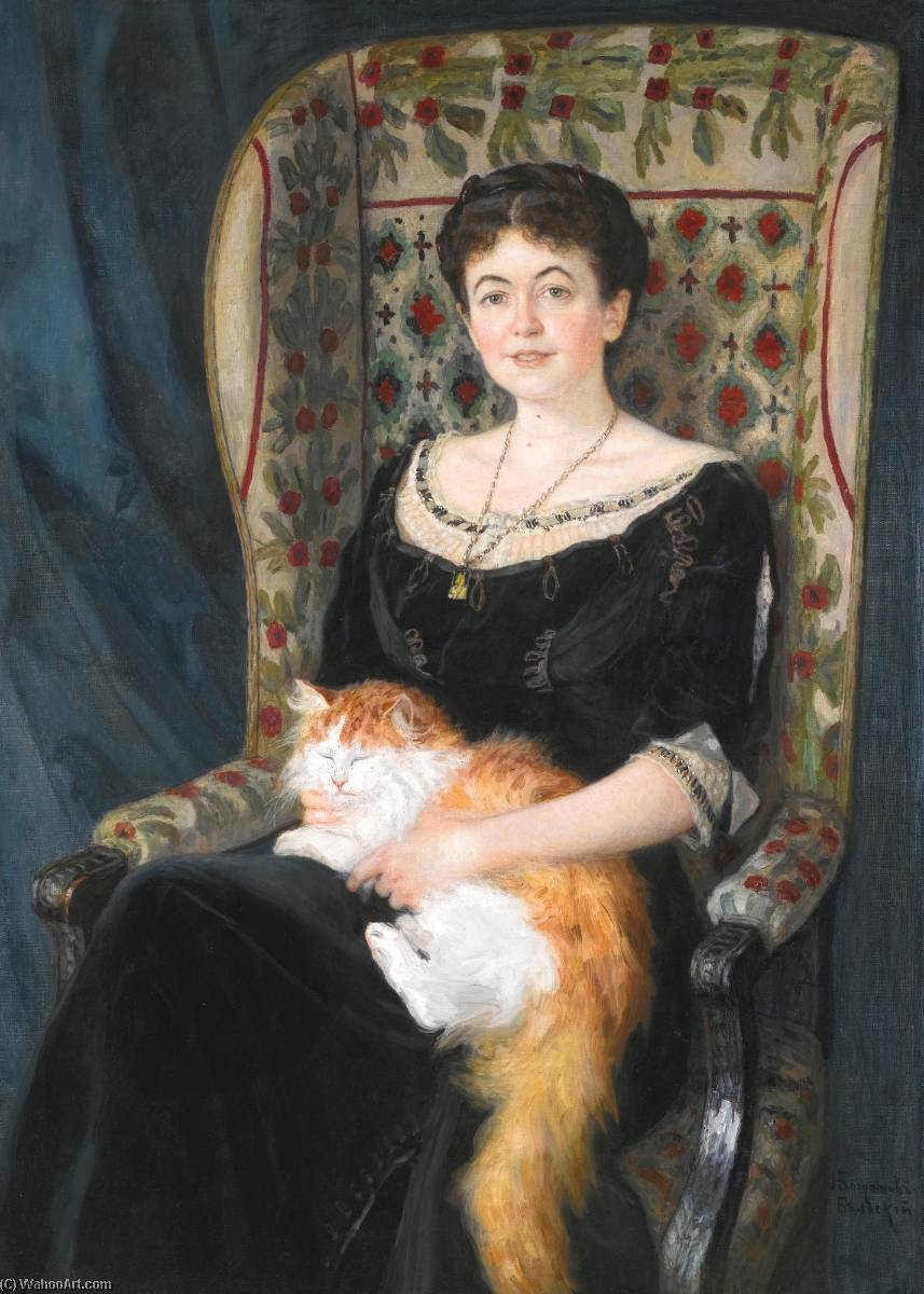 Portrait of a Lady by Nikolai Petrovich Bogdanov Belsky | Museum Quality Reproductions | WahooArt.com