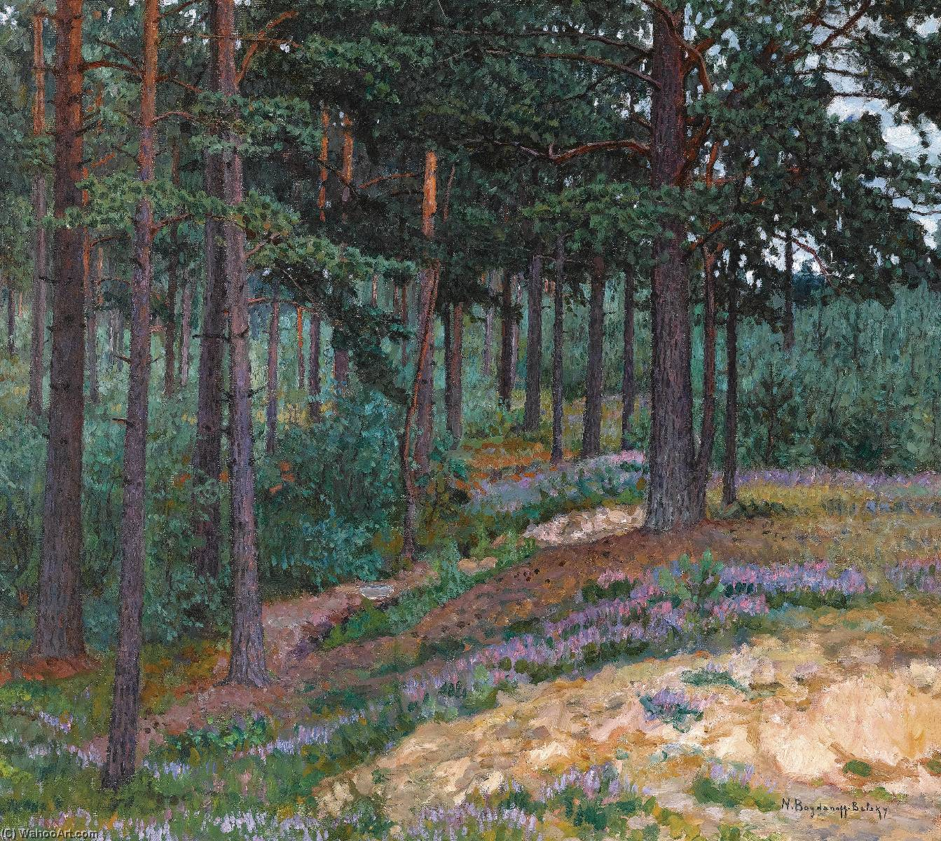 Forest Glade by Nikolai Petrovich Bogdanov Belsky | Painting Copy | WahooArt.com
