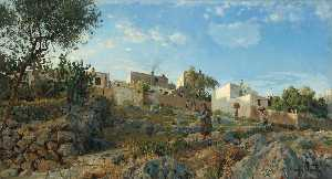 Peder Mork Monsted - A View of Anacapri