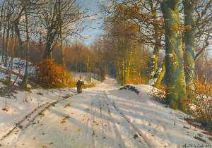 Peder Mork Monsted - Winter Landscape