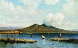 Alexei Bogoliubov - Mount Vesuvius from the Sea