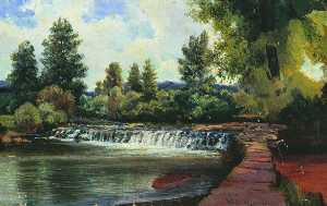 Alexey Petrovich Bogolyubov - Kissingen. The Waterfall