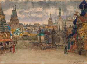 Apollinari Vasnetsov - The District of Marksman Troops in Moscow