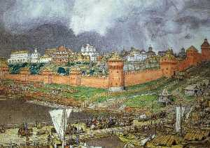 Apollinari Vasnetsov - The Moscow Kremlin under Ivan III