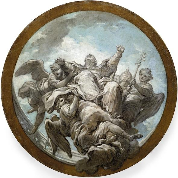 Life of St. Gregory The Apotheosis of St Gregory, Oil On Canvas by Charles-André Van Loo (Carle Van Loo) (1705-1765, France)