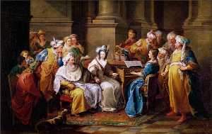 Charles-André Van Loo (Carle Van Loo) - The Grand Turk Giving a Concert to his Mistress