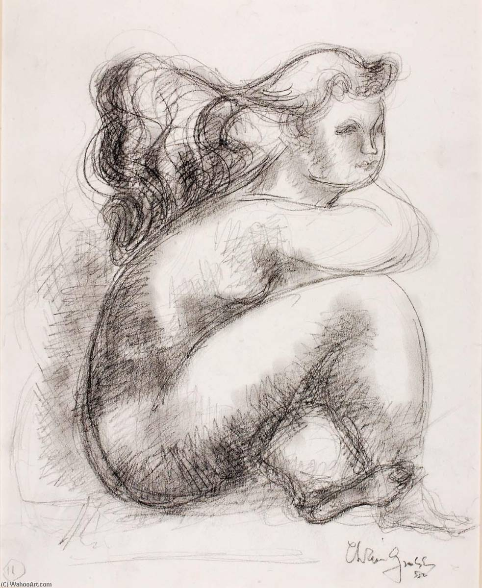 Judith (study for sculpture), Pencil by Chaim Gross