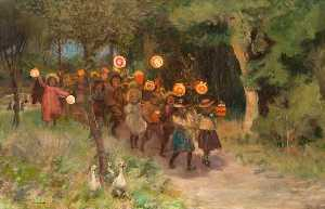 James Elder Christie - Halloween Frolics