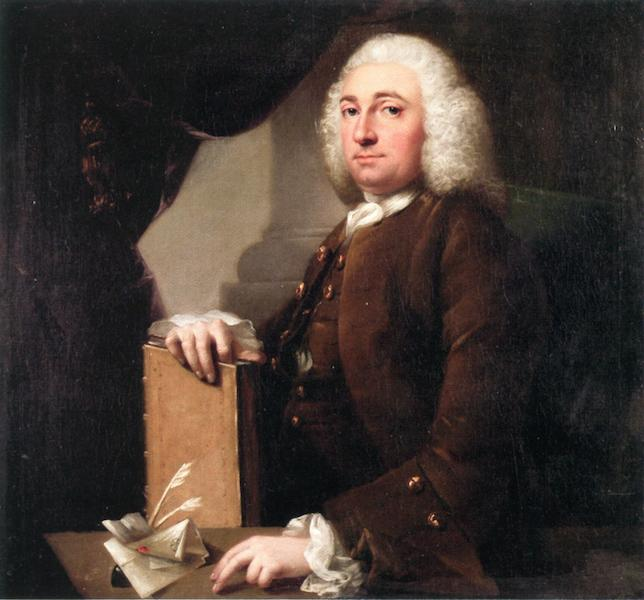 Gentleman with Book and Quills, Oil On Canvas by John Astley