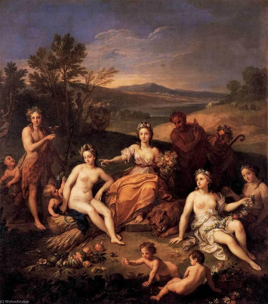 Order Paintings Reproductions | Earth, 1698 by Louis De Boulogne The Younger (1654-1733) | WahooArt.com