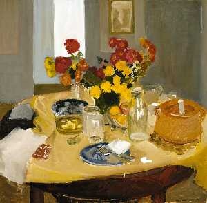 Fairfield Porter - Still Life with Casserole