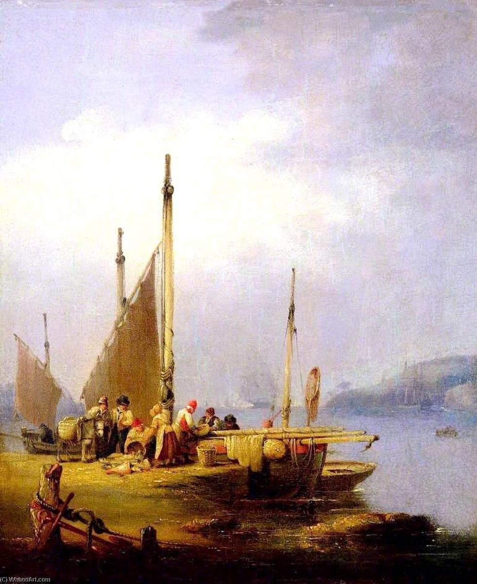 Order Oil Painting : Harbour Scene by Nicholas Matthew Condy (1816-1851) | WahooArt.com