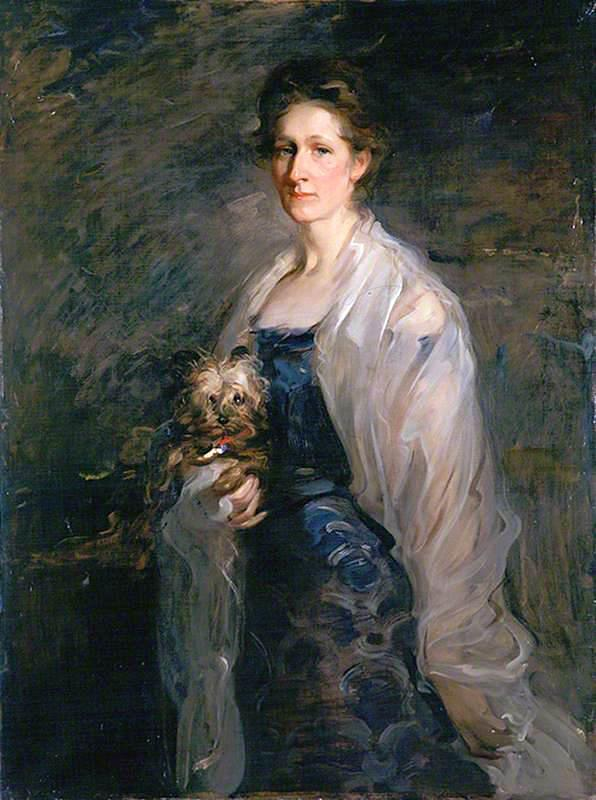 Mrs William Pyper, 1900 by Robert Brough | Oil Painting | WahooArt.com