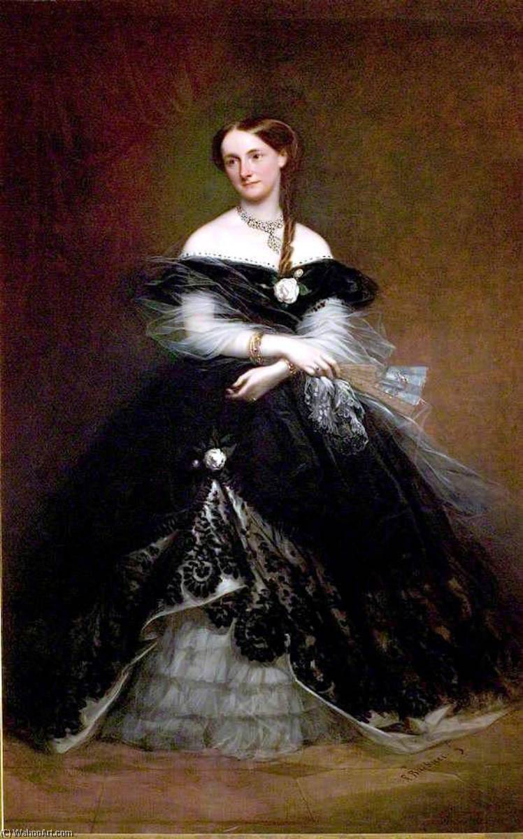 Lady Elizabeth Gilstrap by Richard Buckner (1812-1883) | Museum Quality Reproductions | WahooArt.com