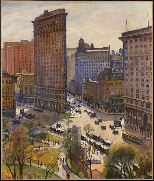The Flatiron Building, Oil On Canvas by Samuel Halpert