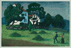 Nikolai Astrup - Home from Work
