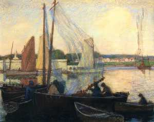 Wilson Henry Irvine - Harbor, Concarneau, Brittany