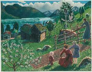 Nikolai Astrup - Growing Weather in Sandalstrand