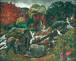 Nikolai Astrup - Going to the Mill