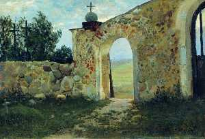 Stanislav Zhukovsky - The Monastery Wall