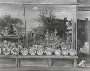 Aaron Bohrod - Reflections on a Shop Window