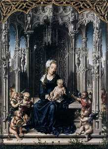 Jan Gossart - Virgin and Child with Musical Angels
