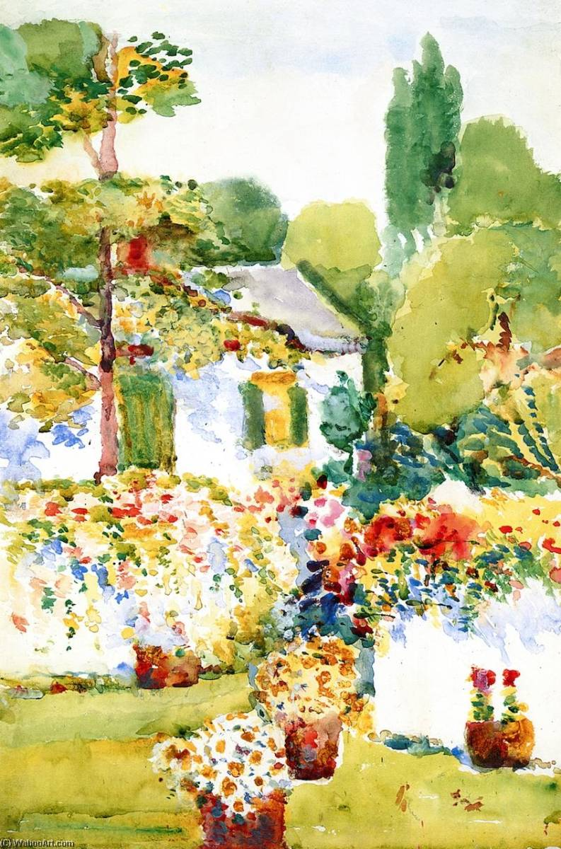 Flowering Wall, 1915 by Annie G Sykes | Painting Copy | WahooArt.com