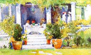 Annie G Sykes - Lunch on the Porch, Vernon Place, Cincinnati