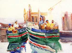 Annie G Sykes - Fishing Boats at Dock, Gloucester, Massachusetts
