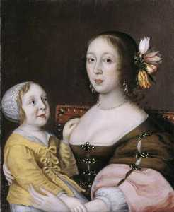 Gilbert Jackson - A Lady of the Grenville Family and her Son