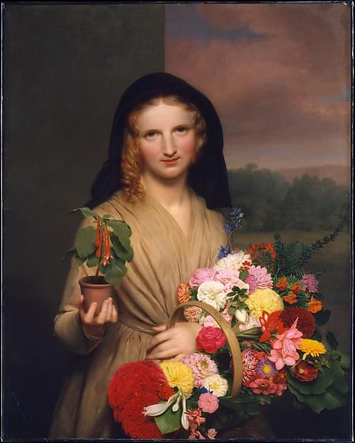 Order Museum Quality Copies | The Flower Girl, 1846 by Charles Cromwell Ingham | WahooArt.com